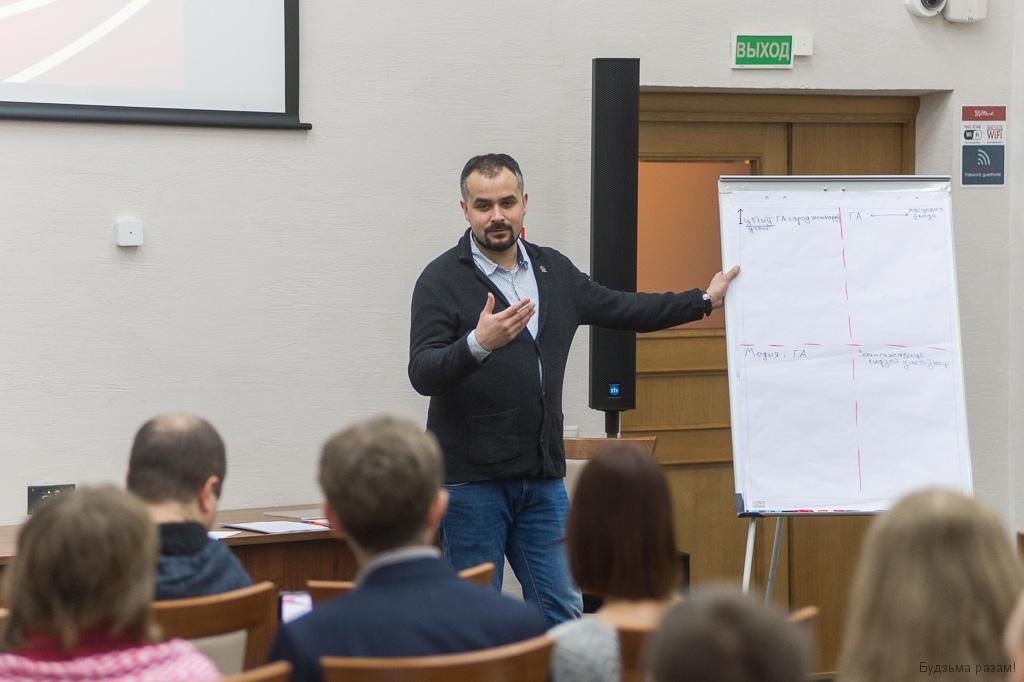 Міхаіл Мацкевіч, мадэратар прэс-клубу