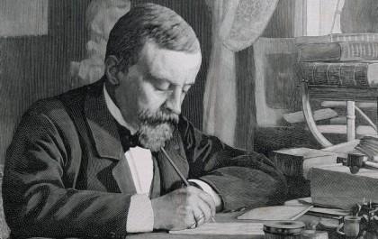 Henryk Sienkiewicz (1846-1916). Polish novelist and journalist. Nobel Prize of Literature, 1905. Engraving. 19th century. Dostawca: PAP/DPA