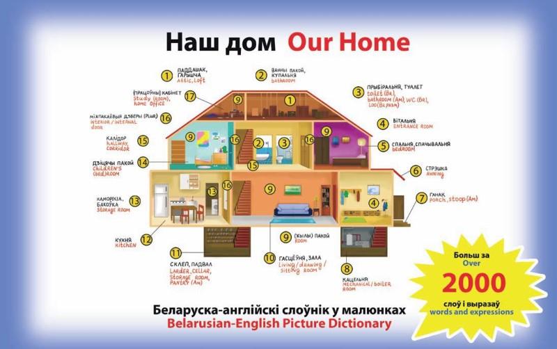 "Cлоўнік у малюнках ""Наш дом / Our Home"""