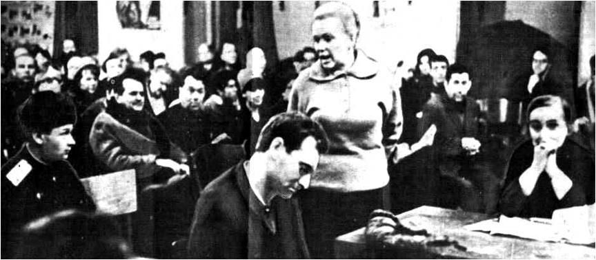 """Суд над """"дармаедам"""" Іосіфам Бродскім, 1964 год."""