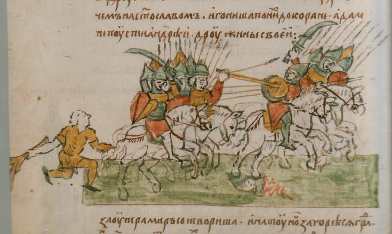 Батальныя сцэны ў Радзівілаўскім летапісе