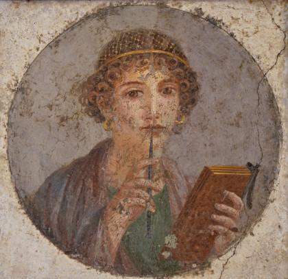Сапфо, фрэска з Пампеяў