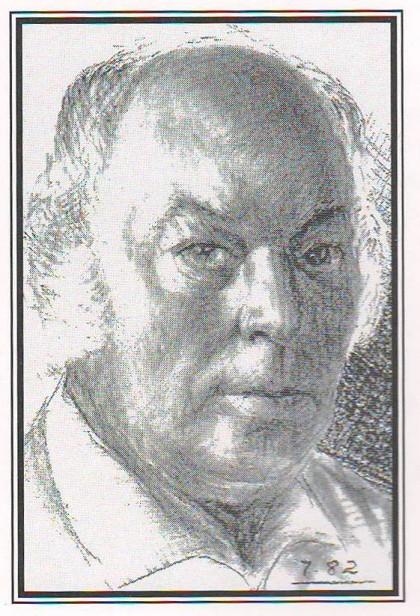 """Дзмітрый Чайкоўскі """"Аўтапартрэт"""", 1982 г."""