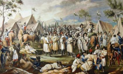 Лагер паўстанцкіх войскаў. Вясна 1794 г